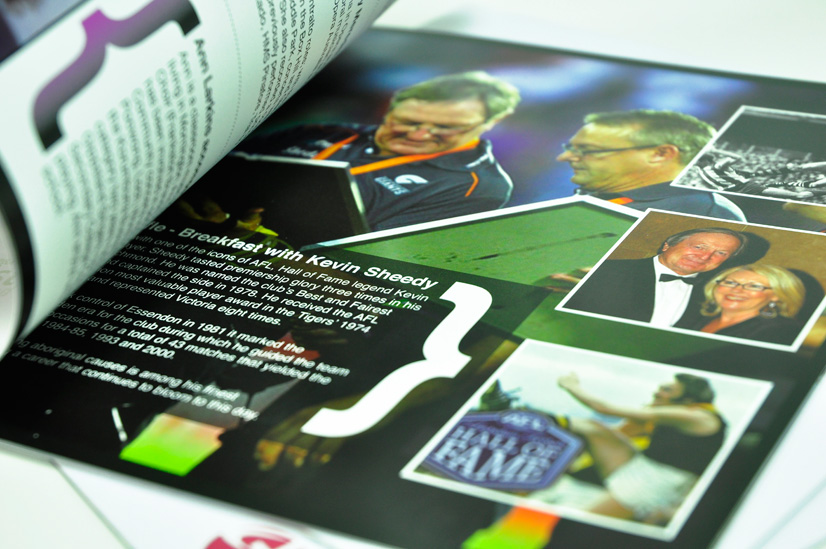 event booklet from corporate australia's printing specialist